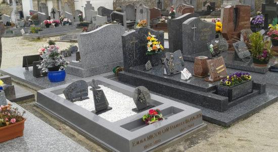 Plaque mortuaire personnalisée