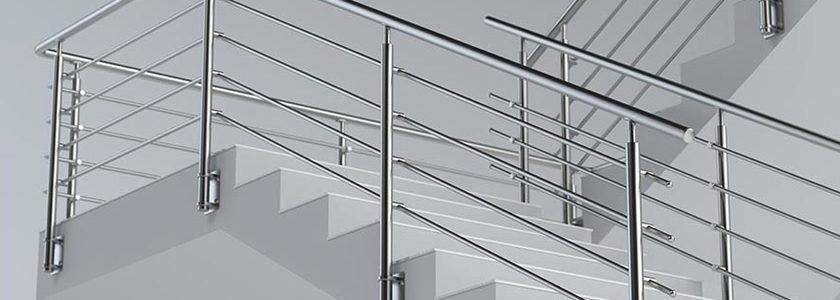 rampe escalier inox